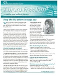 Aurora Freedom Plus, Volume VIII, No. 3, Fall 2010