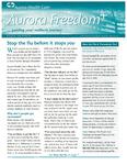Aurora Freedom Plus, Volume IX, No. 3, Fall 2011