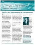 Aurora Freedom Plus, Volume IX, No. 01, Spring 2011