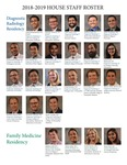 House Staff Roster, 2018-2019