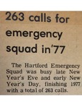263 calls for emergency squad