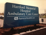 Hartford Memorial Hospital Ambulatory Care Center sign