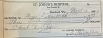 St. Joseph's hospital receipt for chest x-ray