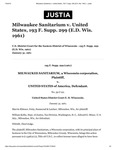Lawsuit- Milwaukee Sanitarium v. United States, 193 F. Supp. 299 (E.D. Wis 1961) by Jonathan T. Van Beckum