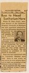 Waldo Buss, new administrator of the Milwaukee Sanitarium, April 17, 1953