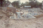 Foundations for the new gymnasium, August 26, 1982