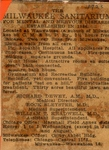 1923 Newspaper Advertisement for Milwaukee Sanitarium