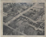 Aerial view of Administrative Building and Colonial Hall, Milwaukee Psychiatric Hospital campus, 1970's(?)