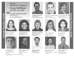 Aurora Residency Programs House Staff Roster, 2003-2004