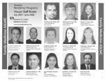 Aurora Residency Programs House Staff Roster, 2007-2008