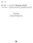 Medical - Dental Staff photo identification, 1983