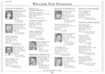 Welcome New Physicians roster, 1996