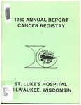 1980 Annual Report Cancer Registry