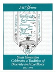 Booklet commemorating 130 years at Sinai Samaritan Medical Center