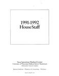 Sinai Samaritan Medical Center House Staff, 1991-1992 by Aurora Health Care