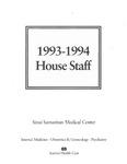 Sinai Samaritan Medical Center House Staff, 1993-1994