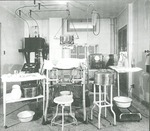 Room filled with medical equipment