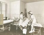 Nurses tending to patient