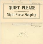Night nurse sleeping sign