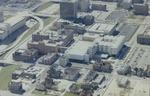 Mount Sinai Hospital buildings, aerial view