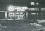 Mount Sinai hospital entrance at night