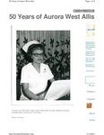 50 Years of Aurora West Allis - Hospital opening memories